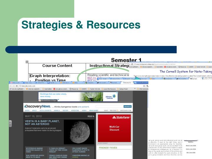 Strategies & Resources