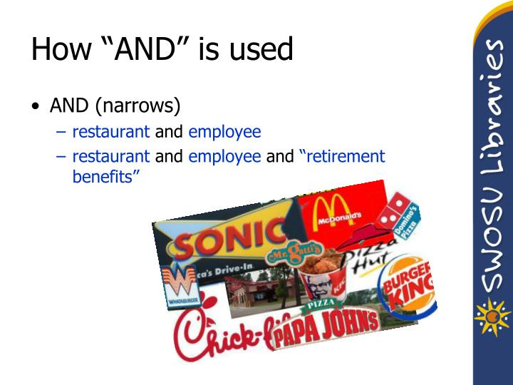 "How ""AND"" is used"