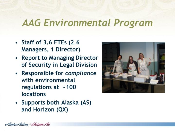 AAG Environmental Program