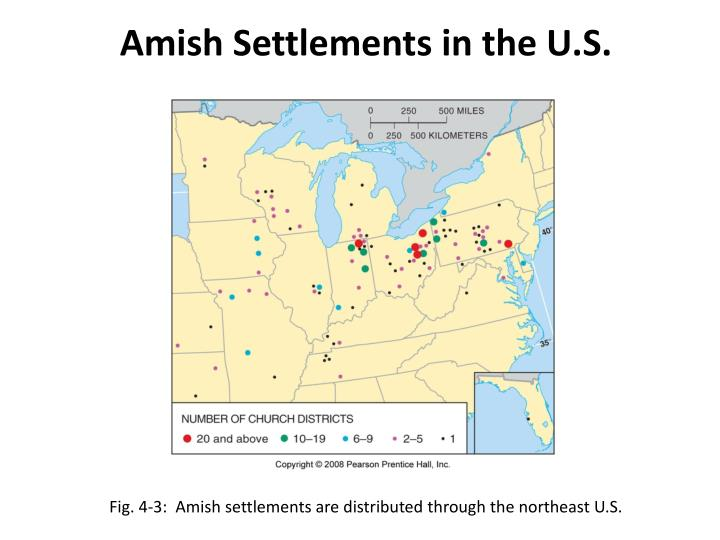 Amish Settlements in the U.S.