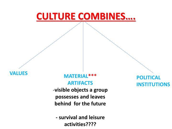 CULTURE COMBINES….