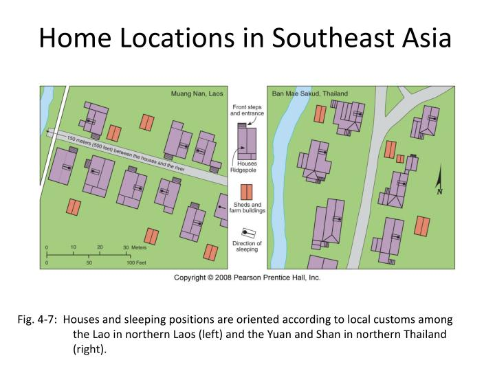 Home Locations in Southeast Asia