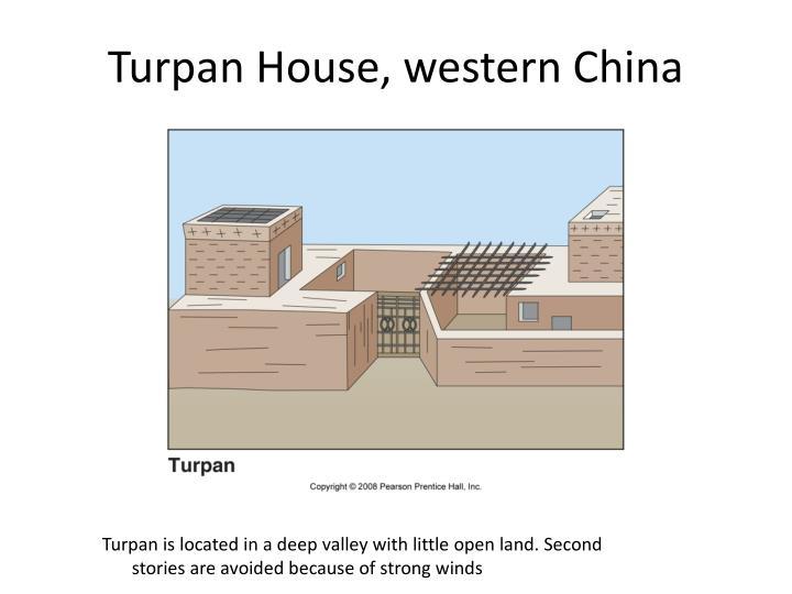 Turpan House, western China