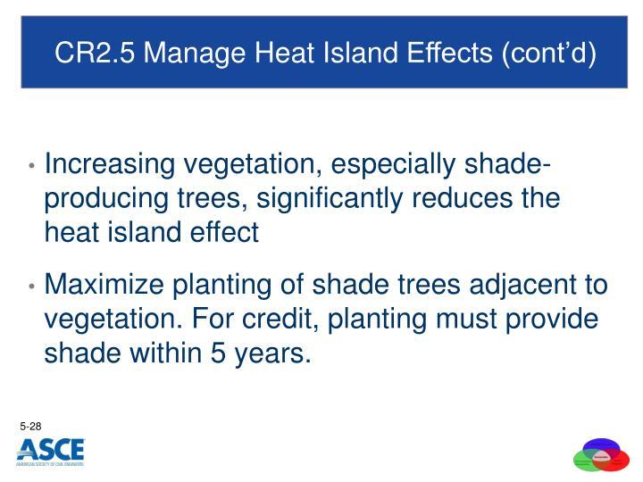 CR2.5 Manage Heat Island
