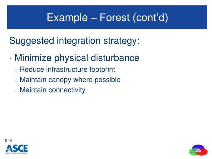 Example – Forest (cont'd)