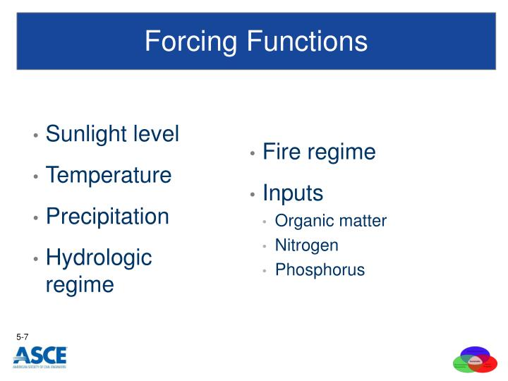 Forcing Functions