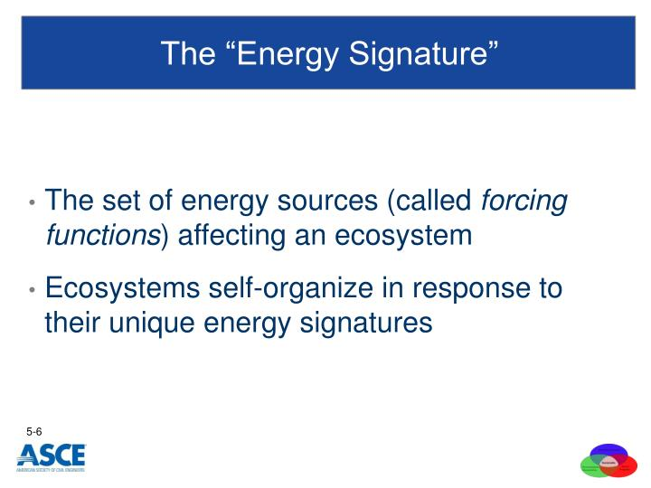 "The ""Energy Signature"""