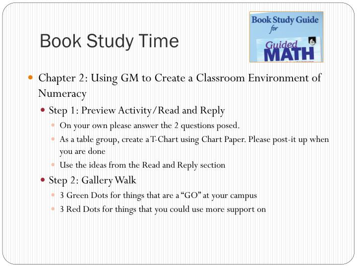 Book Study Time
