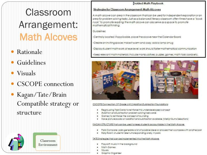 Classroom Arrangement: