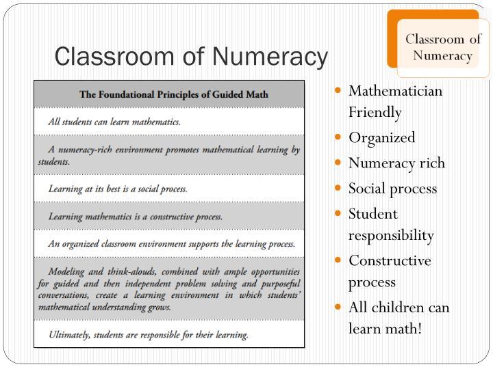 Classroom of Numeracy