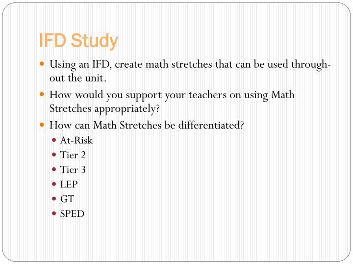 IFD Study