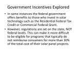 government incentives explored