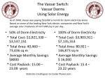the vassar switch vassar dorms using solar energy