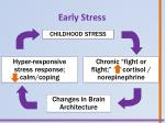 early stress