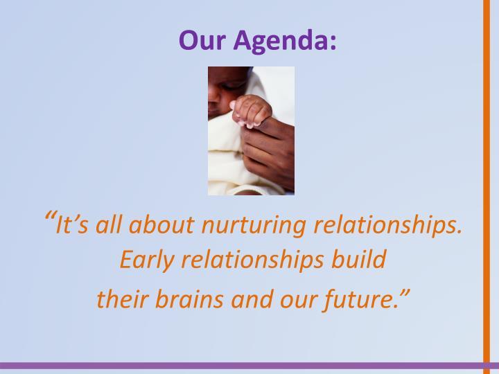 Our Agenda: