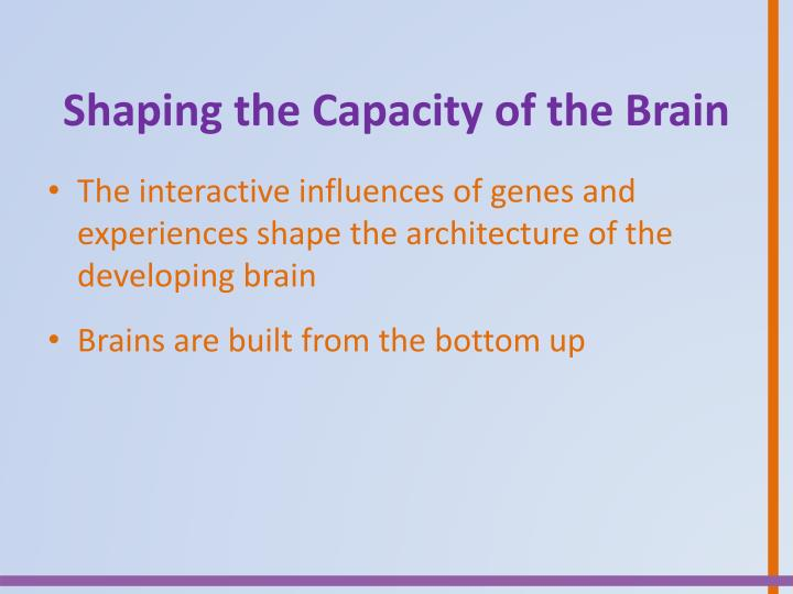 Shaping the Capacity of the