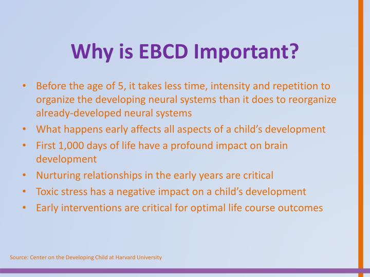 Why is EBCD Important