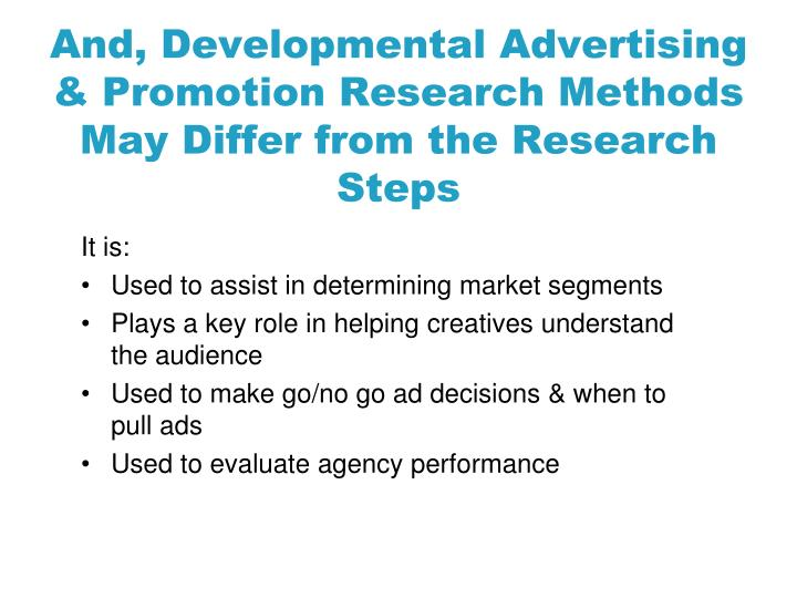 And, Developmental Advertising
