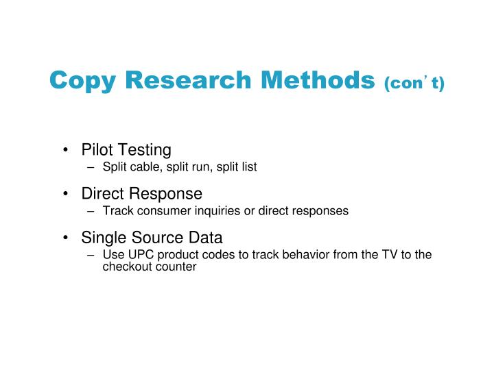 Copy Research Methods