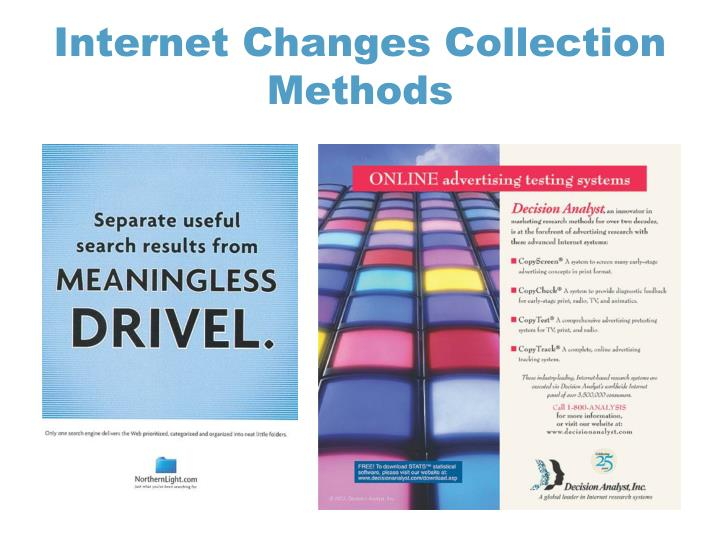 Internet changes collection methods