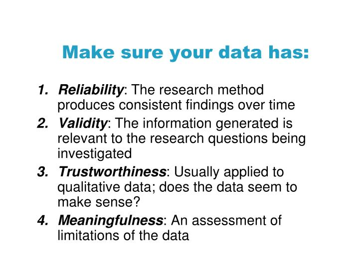 Make sure your data has: