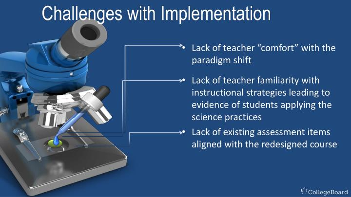 Challenges with Implementation