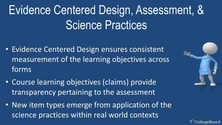 Evidence Centered Design, Assessment, & Science Practices