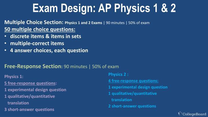 Exam Design: AP Physics