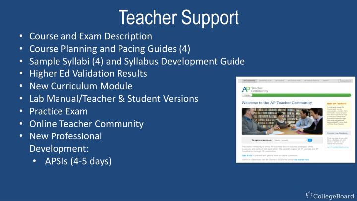 Teacher Support