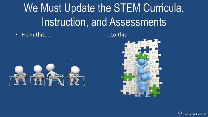 We Must Update the STEM Curricula, Instruction, and Assessments