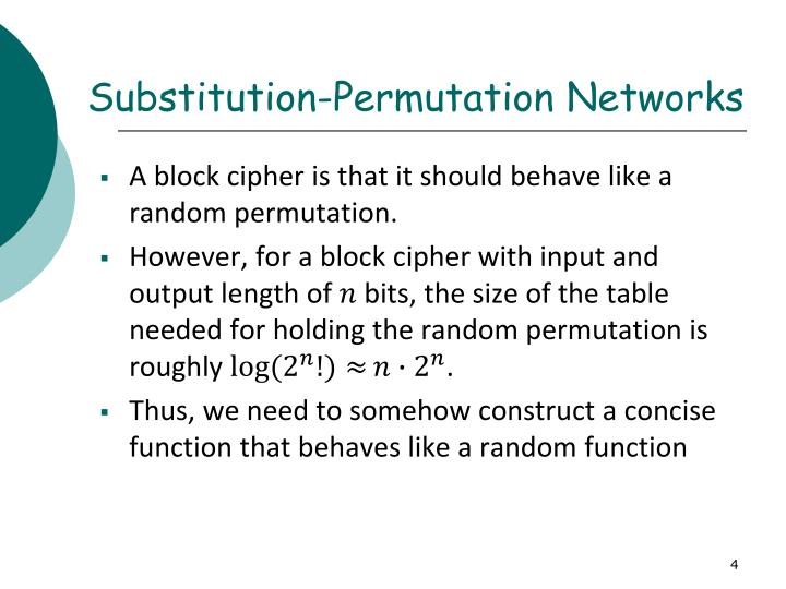 Substitution-Permutation Networks