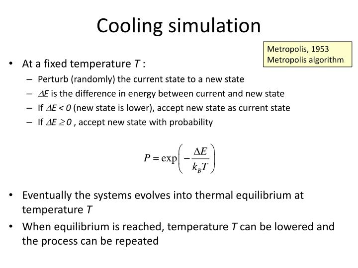 Cooling simulation