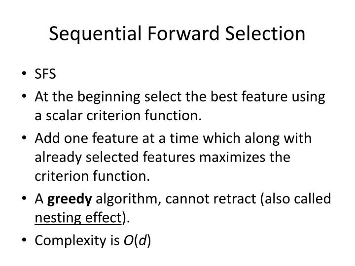 Sequential Forward Selection