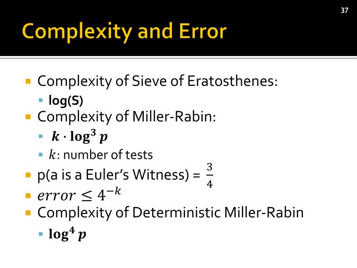 Complexity and Error