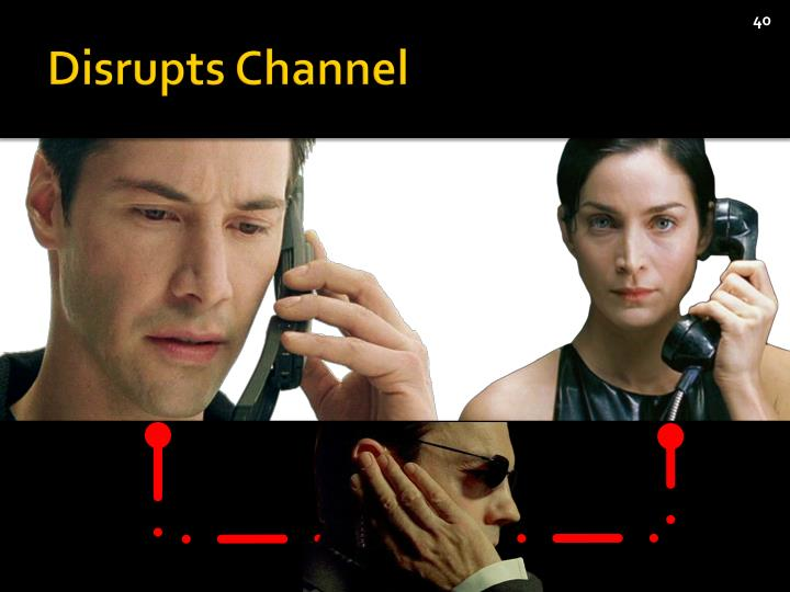 Disrupts Channel