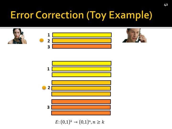 Error Correction (Toy Example)