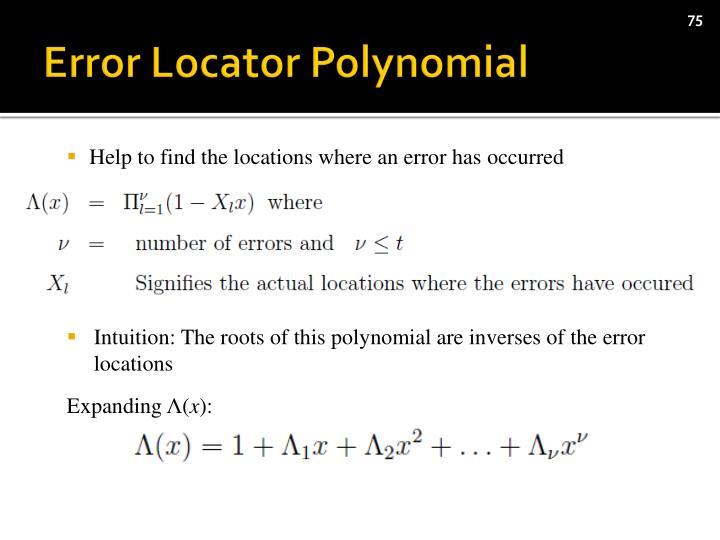 Error Locator Polynomial
