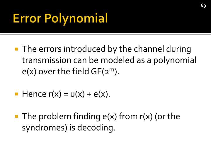 Error Polynomial