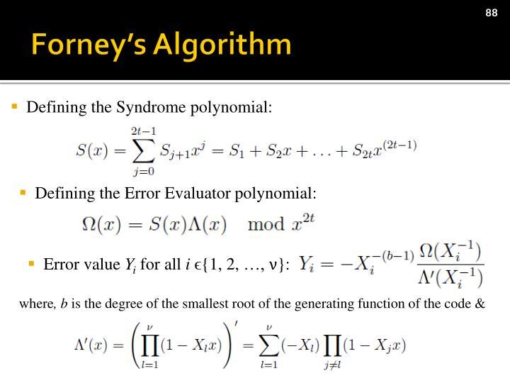 Forney's Algorithm