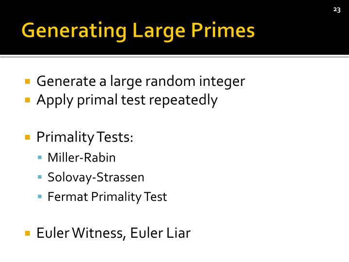 Generating Large Primes