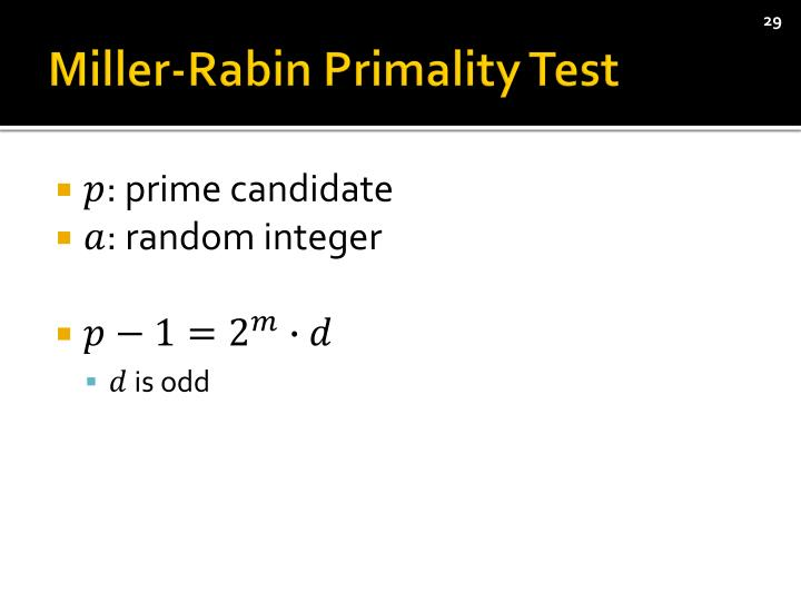 Miller-Rabin
