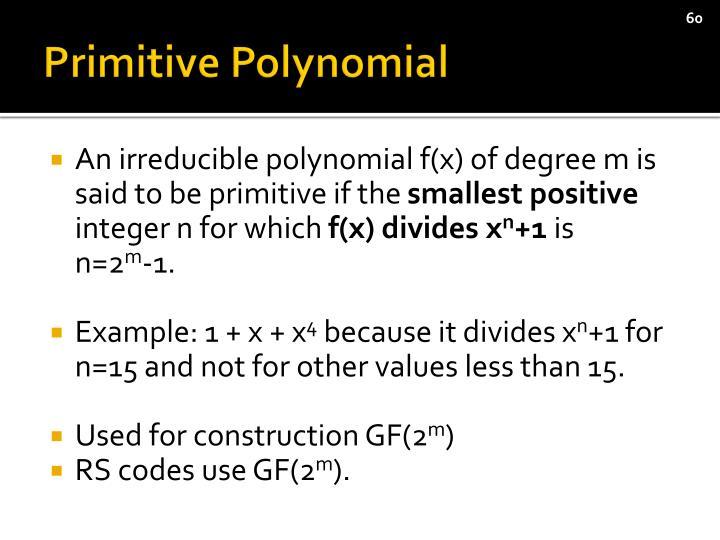 Primitive Polynomial