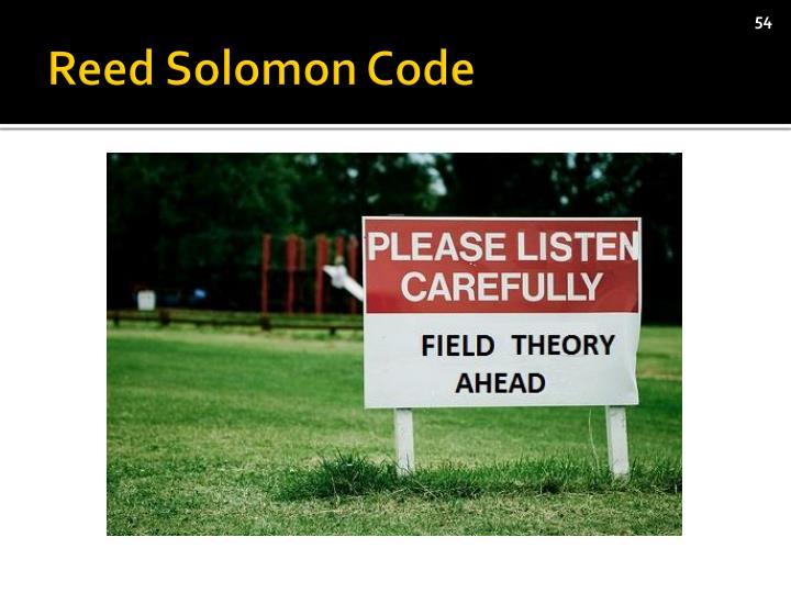Reed Solomon Code