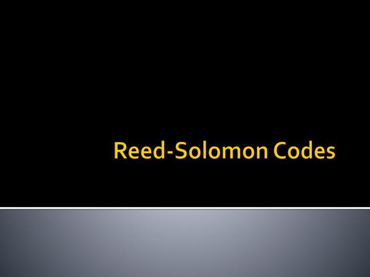 Reed-Solomon Codes