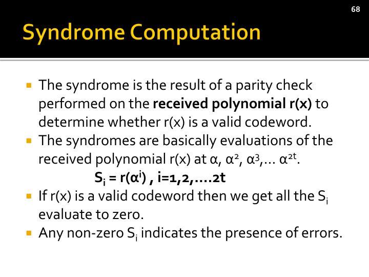 Syndrome Computation