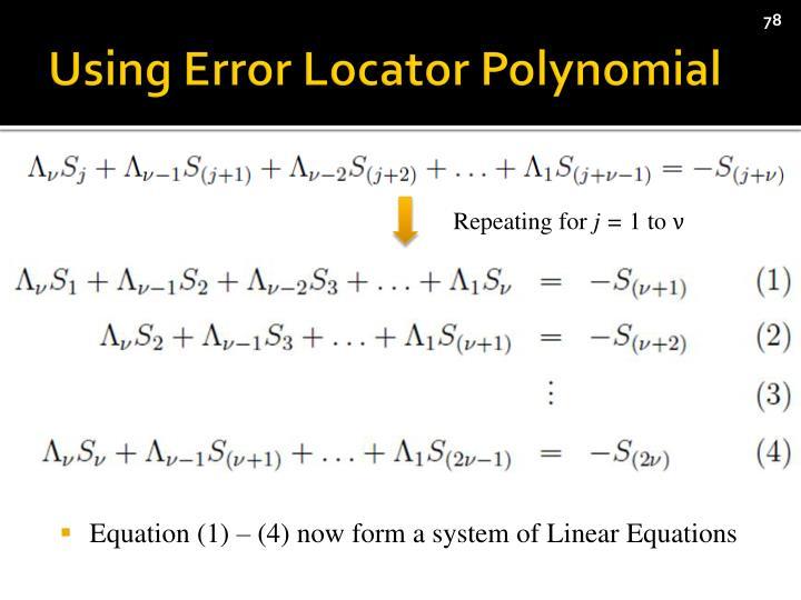 Using Error Locator Polynomial