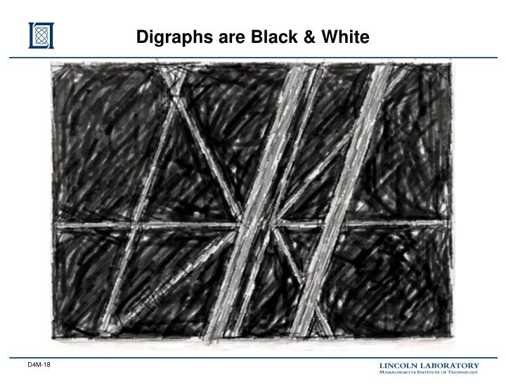 Digraphs are Black & White