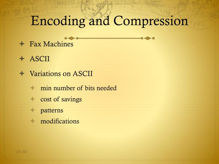 Encoding and compression