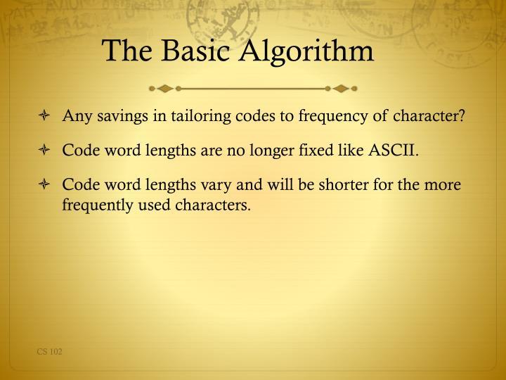 The Basic Algorithm