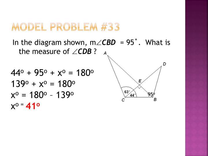 Model Problem #33